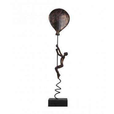 Escultura Hum subindo no balão - Ouro Velho