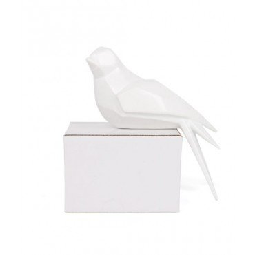 Escultura Pássaro na prateleira - lado esquerdo