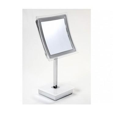 Espelho de Mesa sem fio com Iluminação LED Quadrado 5X