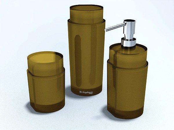 Conjunto Cilíndrico em 3 potes - R. Szpilman - Várias Cores Disponíveis