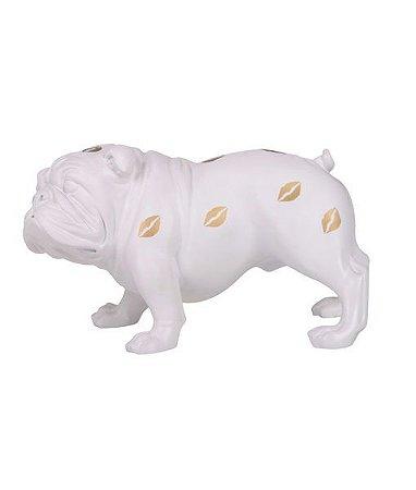 Escultura Bulldog Beijos