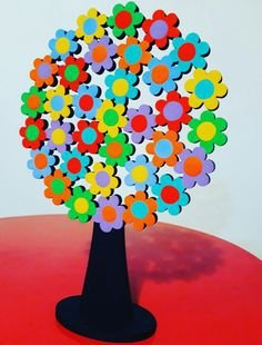 Escultura Árvore Flor M