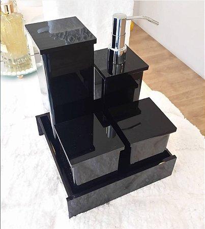 Conjunto de potes 5 peças Decor em Acrilico - Decor Acrílicos
