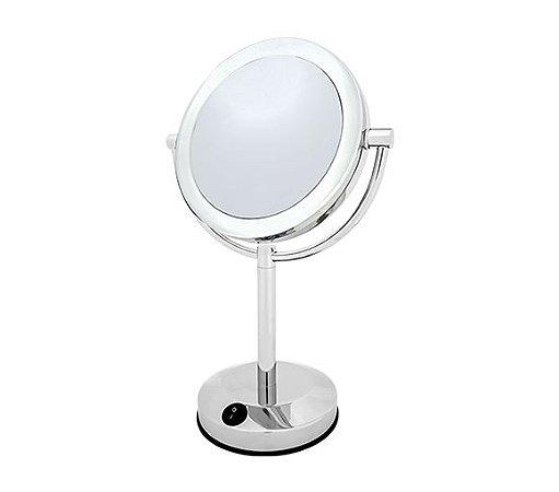 Espelho Duplo de Mesa com Iluminação LED,  1X e 8X