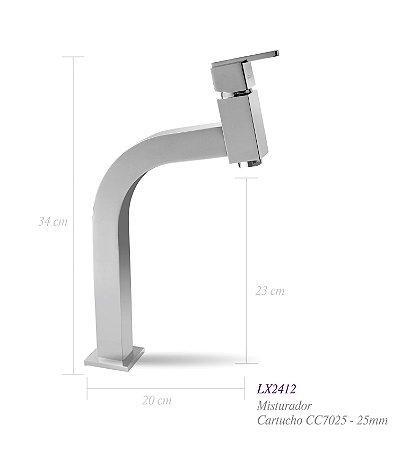 Misturador monocomando para lavatório LX2412 - Lexxa