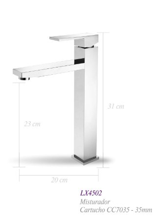 Misturador monocomando para lavatório LX4502 - Lexxa