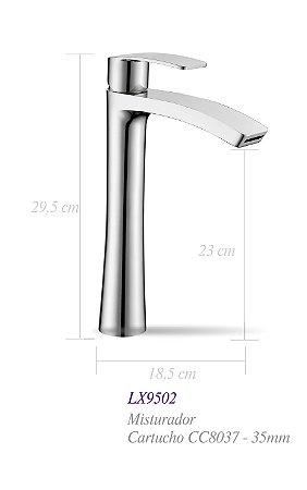 Misturador monocomando para lavatório LX9502 - Lexxa