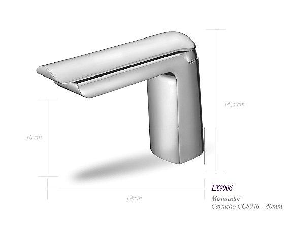 Misturador monocomando para lavatório LX9006 - Lexxa