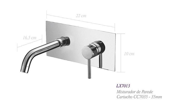 Misturador monocomando de parede  para lavatório LX7013 - Lexxa