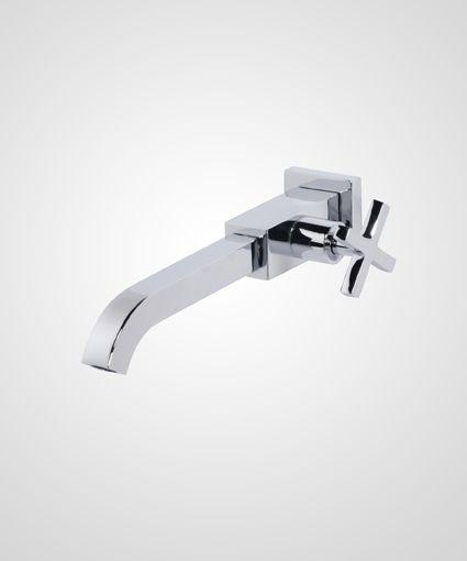 Torneira para lavatório de parede New Quadra - Perflex