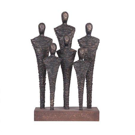 Escultura Homens - Ouro envelhecido