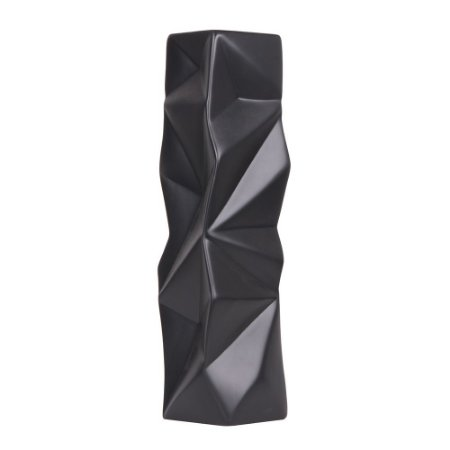 Escultura Vaso Geométrico Preto G