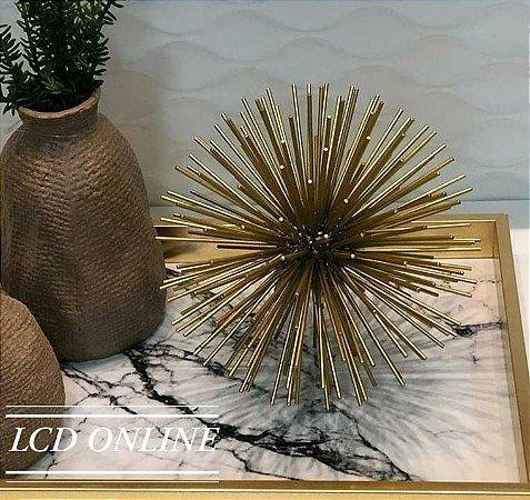 Escultura esfera dourada 20 cm