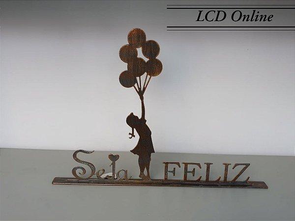 Escultura Seja Feliz  47 x 33 cm