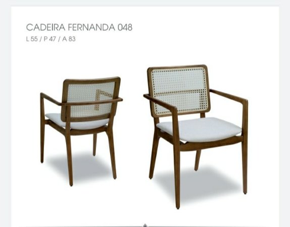 Cadeira Fernanda 048 - Luccasi Mobili