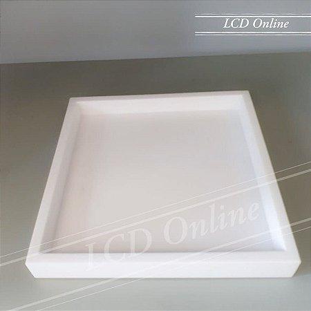 Bandeja quadrada 20x20 - resina