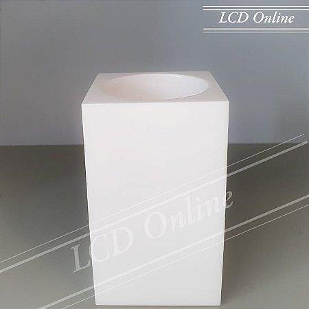Porta escova aberto / pote aberto quadrado - resina