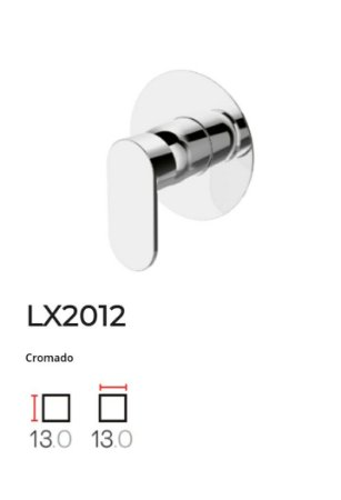Acabamento para base monocomando de Chuveiro LX2012CR - Lexxa