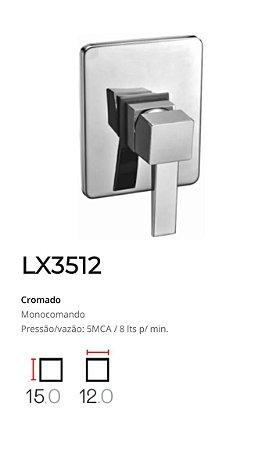 Registro Monocomando completo, base 1/2'  LX3512 - Lexxa