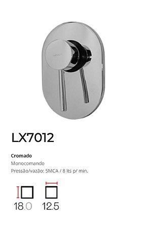 Registro Monocomando completo, base 1/2'  LX7012 - Lexxa