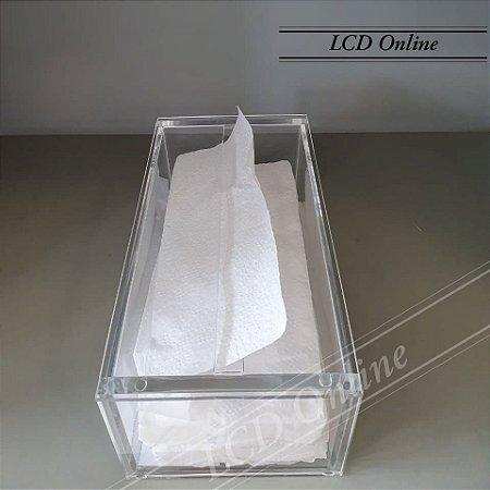 Porta papel interfolha retangular - acrílico