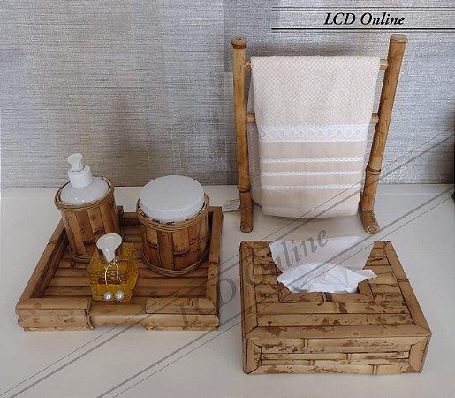 Conjunto de bambu - 05 peças