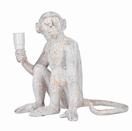 Escultura Abajour Macaco Sentado