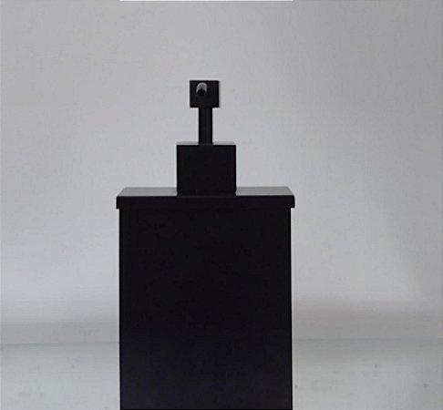 Saboneteira Líquida Retangular Preta fosca de Latão