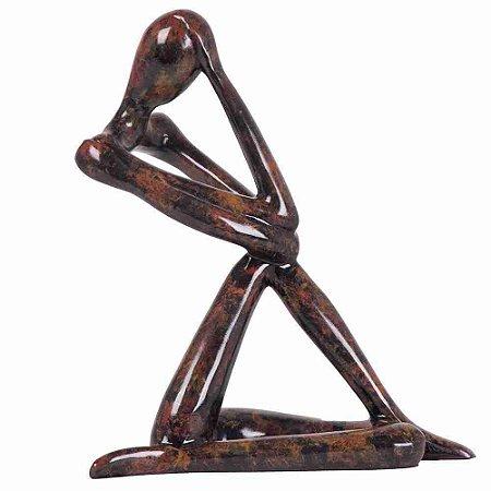 Escultura Solo Marmore Marrom