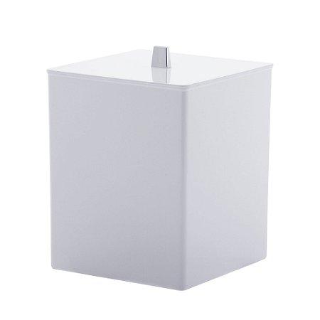 Lixeira Quadrada  Branca Quadratta - Paramount