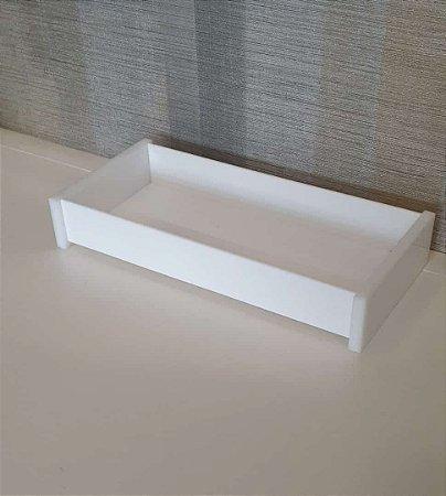 Bandeja / Porta papel toalha Organizadora em Acrílico Branco - Decor Acrílico