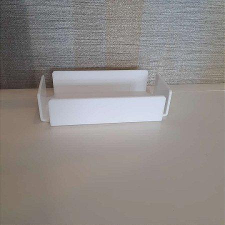 Bandeja / Porta papel toalha Curve em Acrílico Branco - Decor Acrílico