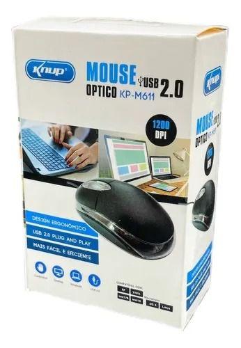 MOUSE ÒPTICO KNUP KP-M611 C/FIO USB 2.0