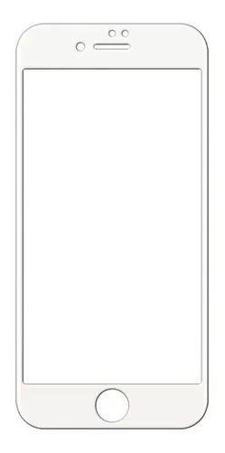 PELÍCULA DE VIDRO 3D PARA IPHONE 7 PLUS / 8 PLUS - BORDA BRANCA