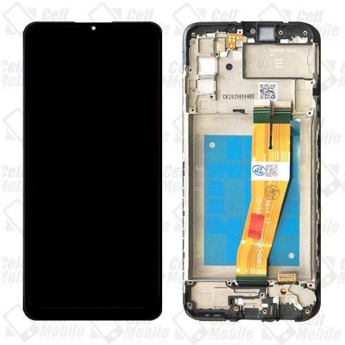 DISPLAY LCD SAMSUNG GALAXY A02S (PRETO ) - COM ARO