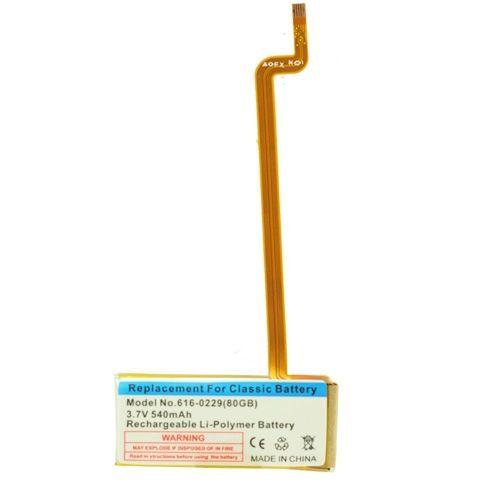 BATERIA iPOD CLASSIC 30GB/40GB/60GB/80GB/120GB/160GB/320GB SLIM ( FINA ) / BATERIA iPOD VIDEO