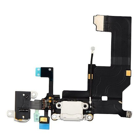 CONECTOR DE CARGA iPHONE 5G COMPLETO (DOCK FLEX) BRANCO