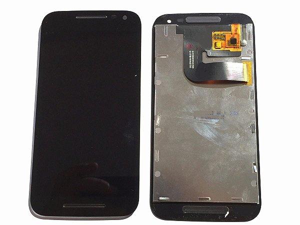 DISPLAY LCD MOTOROLA XT1540/XT1544 MOTO G3 COMPLETO - PRETO