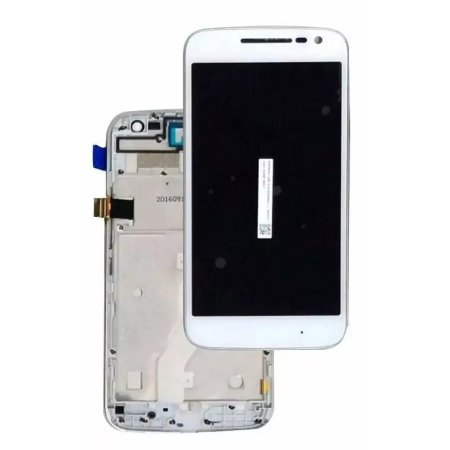 DISPLAY LCD MOTOROLA XT1624 / XT1626 MOTO G4 COMPLETO - BRANCO COM ARO