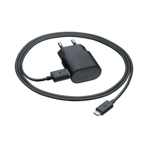 CARREGADOR NOKIA MICRO USB PRETO  MOD. ORIGINAL / FONTE NOKIA MOD. ORIGI.