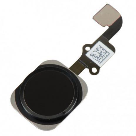 """BOTÃO HOME iPHONE 6G (4.7"""") / 6G PLUS (5,5"""") PRETO - COM FLEX"""