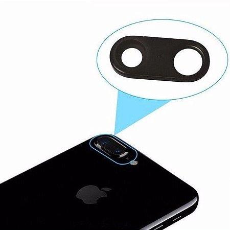 LENTE DA CAMERA IPHONE 7G PLUS 5.5'' ( LENTE EXTERNA DE PROTEÇÃO DA CAMERA TRASEIRA ) PRETA