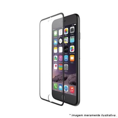 """PELICULA VIDRO IPHONE 6G PLUS ( 5.5"""")  DIANTEIRA COM BORDA PRETA ( CURVA )"""