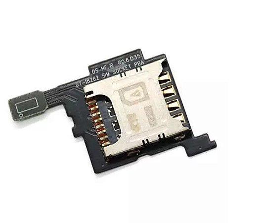 SLOT DO CHIP SIM COM FLEX SAMSUNG i8262 - GALAXY S3
