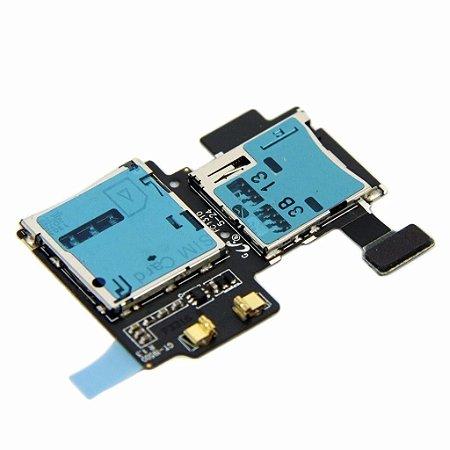 SLOT DO CHIP SIM/MEMORY CARD COM FLEX SAMSUNG i9500 - GALAXY S4