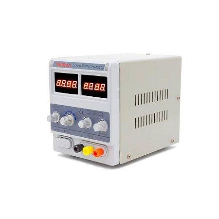 FONTE DE ALIMENTAÇÃO DIGITAL - YAXUN PS-1502DD (220V) / FONTE DIGITAL YAXUN YX1502 220V