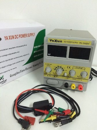 FONTE DE ALIMENTAÇÃO DIGITAL - YAXUN 1502DD+ (220V) / FONTE DIGITAL YAXUN YX1502 220V 1502