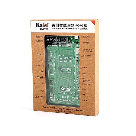 PLACA PARA REATIVAR BATERIA DE iPHONES E SAMSUNG KAISI K-9208 (C/ LCD DUPLO) / REATIVADORA KAISI K9208