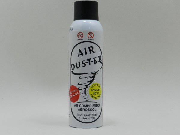 SPRAY AR COMPRIMIDO EM LATA DUSTER IMPLASTEC AIR DUSTER 120Gr / 98ML ( 1;1,1.2 TETRAFLUORETANO )