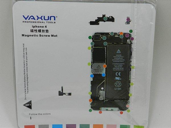 TAPETE MAGNETICO YAXUN PARA MANUTENÇÃO ( IMÃ ) DESENHO iPHONE 4G - 20X20CM